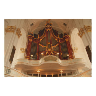 Church Organ Pipes Wood Wall Art