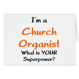 church organist card