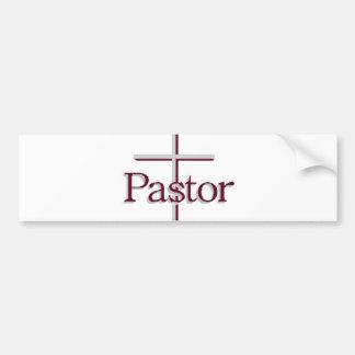 Church Pastor Gray Cross Bumper Stickers