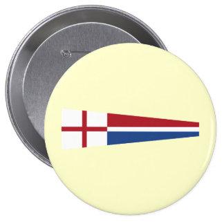 Church Pennant, Netherlands 10 Cm Round Badge
