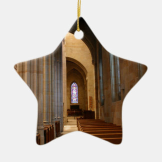 Church Pews Ceramic Star Decoration