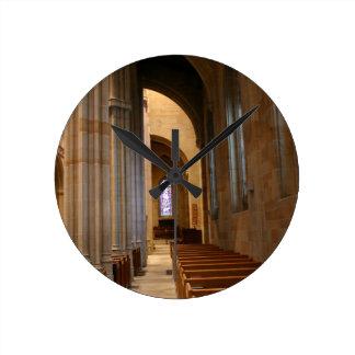 Church Pews Wall Clock
