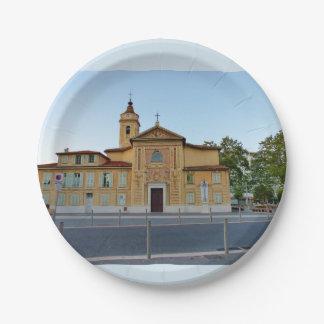 Church Roch Saint Paper Plate