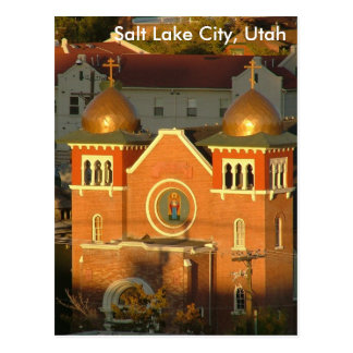 Church, Salt Lake City, UT Postcard