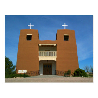 Church Santa Fe, New Mexico Postcard