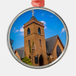 Church Silver-Colored Round Decoration