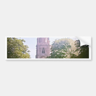 Church spire bumper sticker