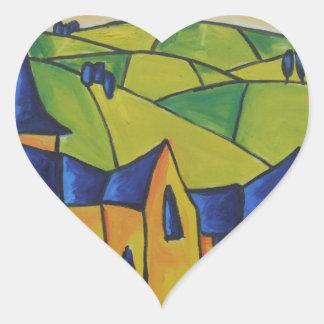 Church Spire Heart Sticker