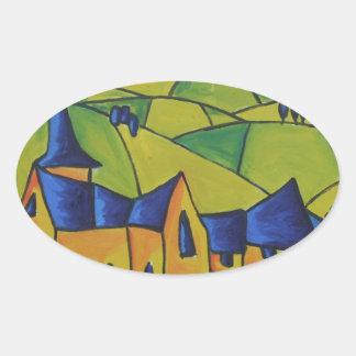 Church Spire Oval Sticker