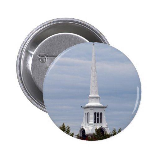 Church Spire Round Button