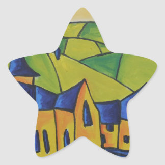 Church Spire Star Sticker