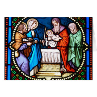 Church Stained Glass Jesus Christ Christmas Card