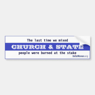 Church & State Bumper Sticker