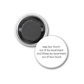 Church State Separation 3 Cm Round Magnet