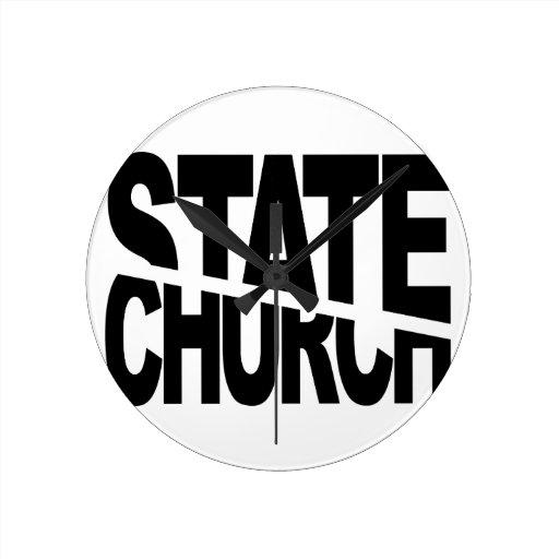 Church State Separation Round Wallclock