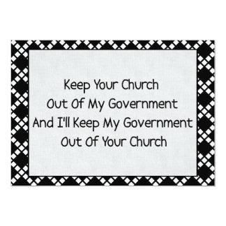 Church State Separation 13 Cm X 18 Cm Invitation Card