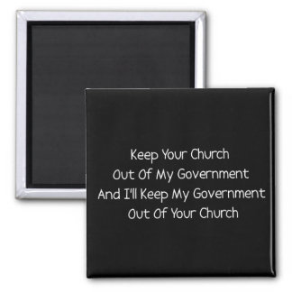 Church State Separation Square Magnet