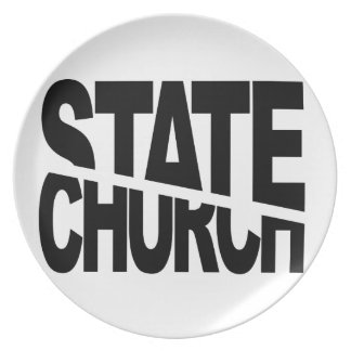 Church State Separation Party Plate