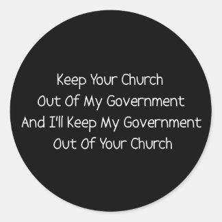 Church State Separation Round Sticker