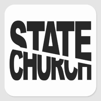 Church State Separation Square Sticker