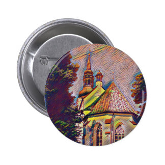 Church Steeples Artistic Photo Manipulation 6 Cm Round Badge