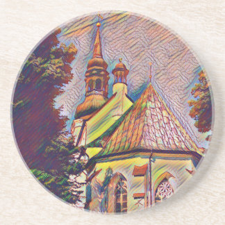 Church Steeples Artistic Photo Manipulation Beverage Coasters