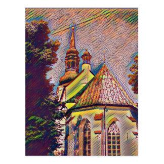 Church Steeples Artistic Photo Manipulation Postcard