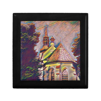 Church Steeples Artistic Photo Manipulation Small Square Gift Box