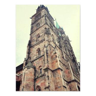 Church tower 17 cm x 22 cm invitation card