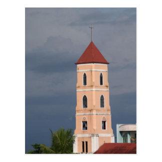 Church tower postcard