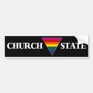 Church Triangle State Bumper Sticker