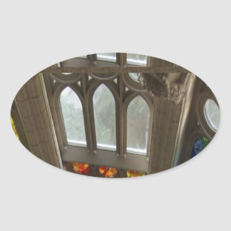Church Wall Decorations Holy Spiritual Experience Oval Sticker