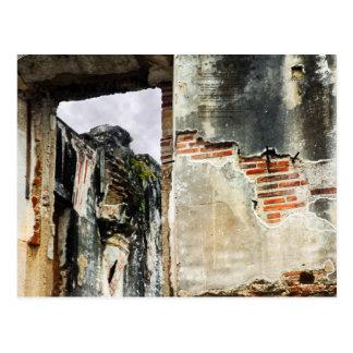 Church Wall, La Antigua Guatemala Postcard