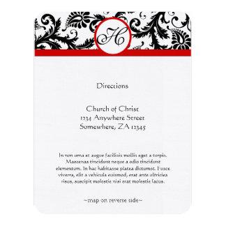 Church Wedding Reception Direction Card 11 Cm X 14 Cm Invitation Card