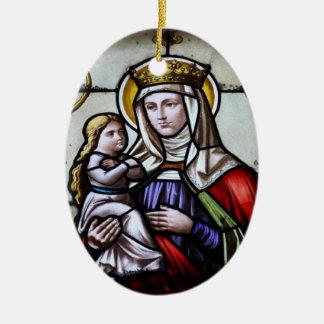 Church window la Roche FR Suisse Christmas Tree Ornaments