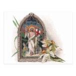 Church Window Resurrection of Christ Post Card