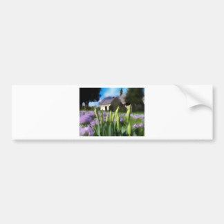Church with artistic blur bumper sticker