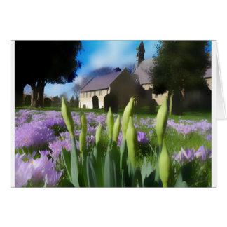 Church with artistic blur card