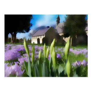 Church with artistic blur postcard
