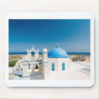 Churches With Blue Roofs Mouse Pad