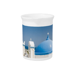 Churches With Blue Roofs Pitcher