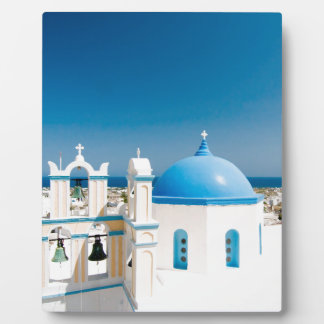 Churches With Blue Roofs Plaque