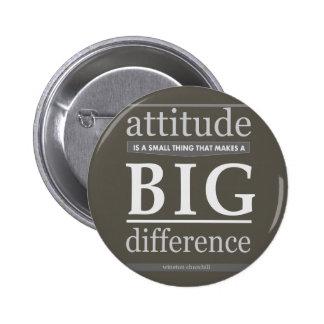 Churchill attitude small big difference pinback button