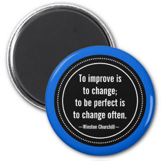 Churchill Inspirational Quote 6 Cm Round Magnet