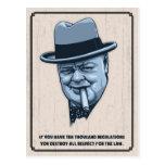 Churchill -Laws Postcard