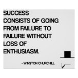 Churchill Motivational Quote - Success Poster