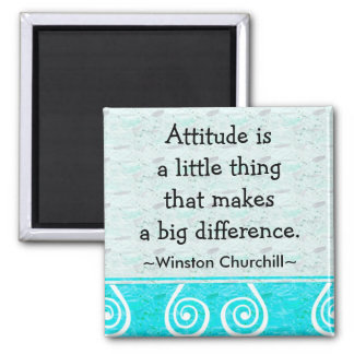 Churchill Quotation - Motivational Magnet
