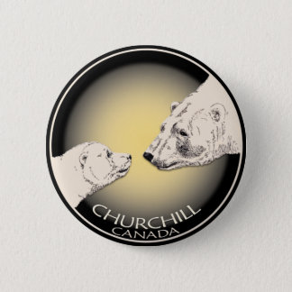 Churchill Souvenirs Polar Bear Art Shirts & Gifts 6 Cm Round Badge