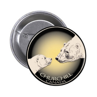 Churchill Souvenirs Polar Bear Art Shirts & Gifts 6 Cm Round Badge