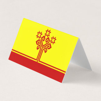 Chuvashia Flag Business Card